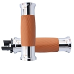 Indian Air GEL Tan Chrome Grips